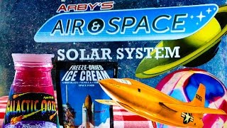 Arby's Air & Space Solar System Kid Meal Toys + Ooze + Light up Balloons + Space Food