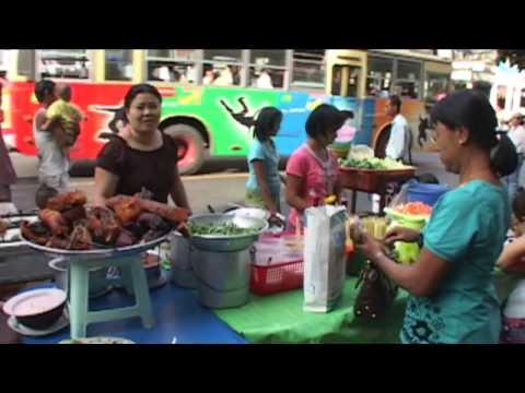 Yangon Street Life Chinatown Rangoon  Myanmar
