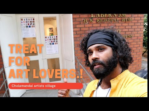 "ART EXHIBITION AT CHENNAI(CHOLAMANDAL ARTISTS VILLAGE) VJ KRISH ""KW"""