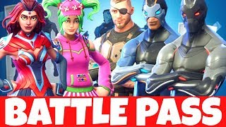 All Skins, Emotes & Gliders of Season 4 | Fortnite Battle Pass