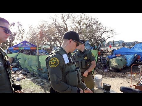 Santa Ana River Trail Homeless Camp Eviction Notice