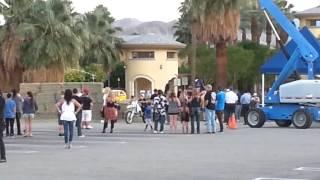 Robbie Knievel motorcycle jump in Palm Springs