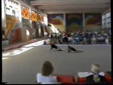 Sports Acrobatics. Republic Championships of Kazakhstan 1999. Yenina A. Sabitova N. Balance