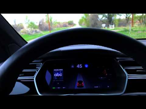 Tesla Autopilot 2.0 HW 8.1 17.17.4 Curvy Road High Speeds