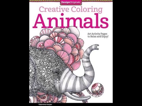 Flip Through Creative Coloring Animals Coloring Book By Valentina Harper