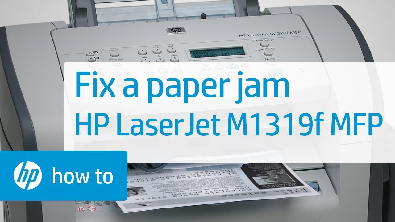 Fixing A Paper Jam Hp Laserjet M1319f Multifunction