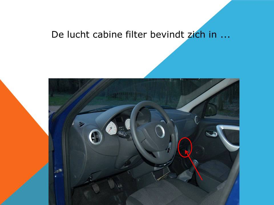 Renault dacia logan interieurfilter en pollenfilter for Interieur filter