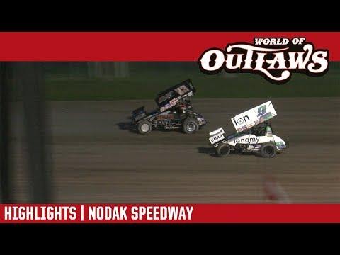 World of Outlaws Craftsman Sprint Cars Nodak Speedway June 17, 2018   HIGHLIGHTS