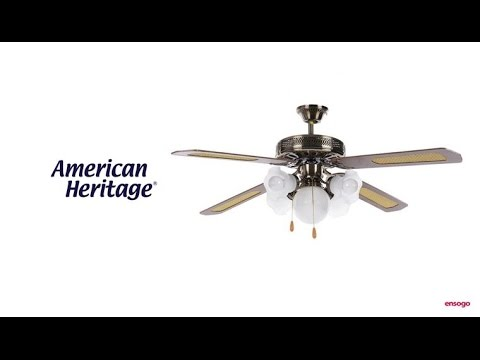 American heritage ceiling fan with lights youtube american heritage ceiling fan with lights mozeypictures Image collections