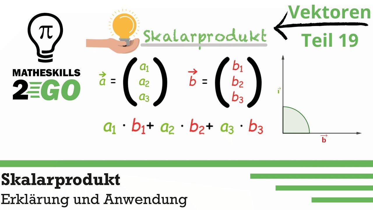 Was ist das Skalarprodukt? | Erklärung, Anwendung und Orthogonalität von Vektoren