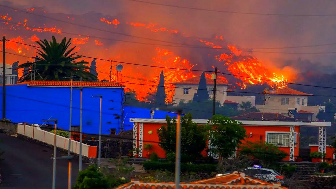 Lava from Cumbre Vieja Destroys Homes on La Palma - Sept. 19 / 20, 2021