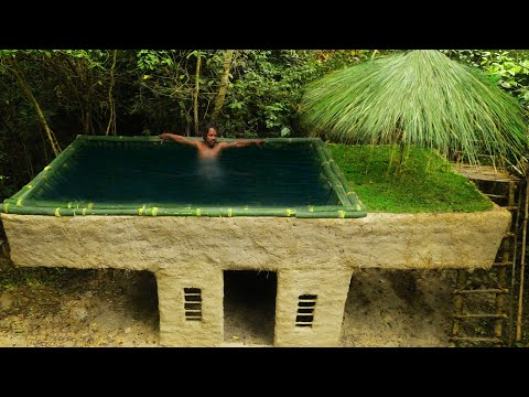 Build Technologically Modern Forest House & Bamboo Swimming Pool And Make Gym