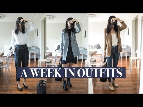 A Week in Outfits #8 - Autumn Work Wear Outfits (Relaxed Office) + a Weekend at Home | Mademoiselle