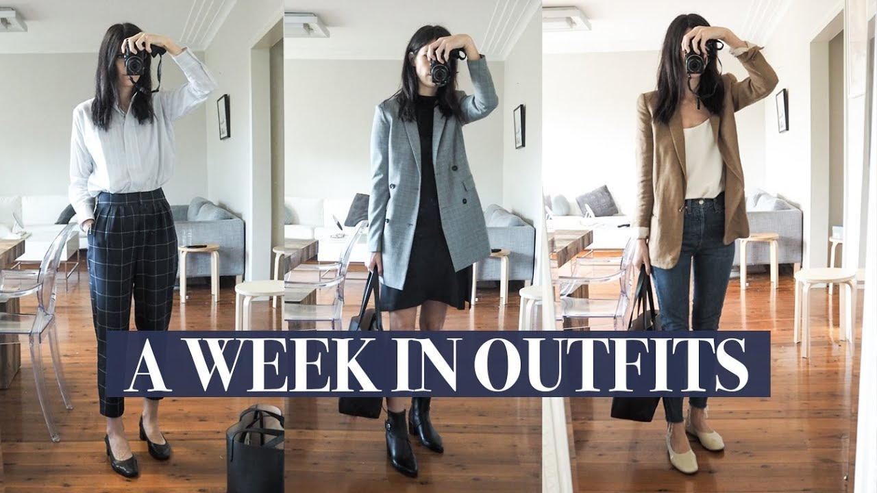 [VIDEO] - A Week in Outfits #8 - Autumn Work Wear Outfits (Relaxed Office) + a Weekend at Home | Mademoiselle 1