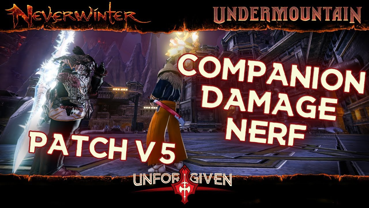 Neverwinter Mod 16 - Patch v5  Companion Damage Nerf Undermountain Barbarian Blademaster (1080p)