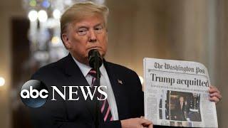 Trump celebrates victory in impeachment trial l ABC News