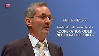 Matthias Platzeck: Russland und Deutschland – Kooperation oder neuer Kalter Krieg?