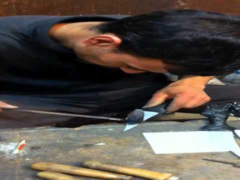Making daggers by hand in Amman Jordan