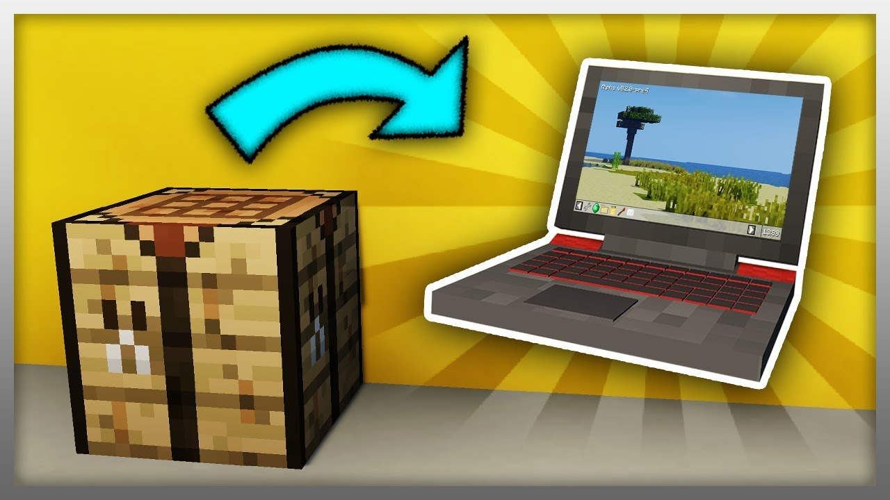 ✔️ How to Craft a Laptop in Minecraft (Device Mod) YouTube