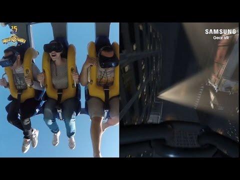 Súbete a una montaña rusa real de Batman con las Gear VR