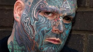 Britain's Most Tattooed Man Has 3D Branding Done