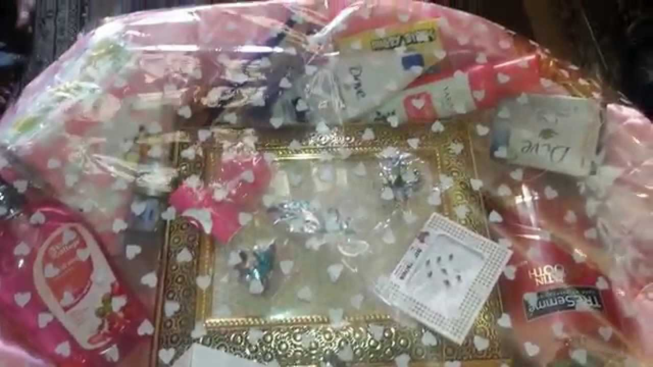 Wedding gift packing idea - YouTube