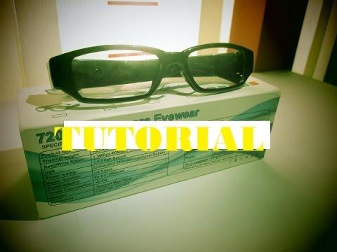 Tutorial Pengoperasian Spy Cam kacamata  kamera pengintai  spy cam ... dfda0903ee