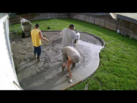 All Seasons Contractors Time Lapse Patio Pour