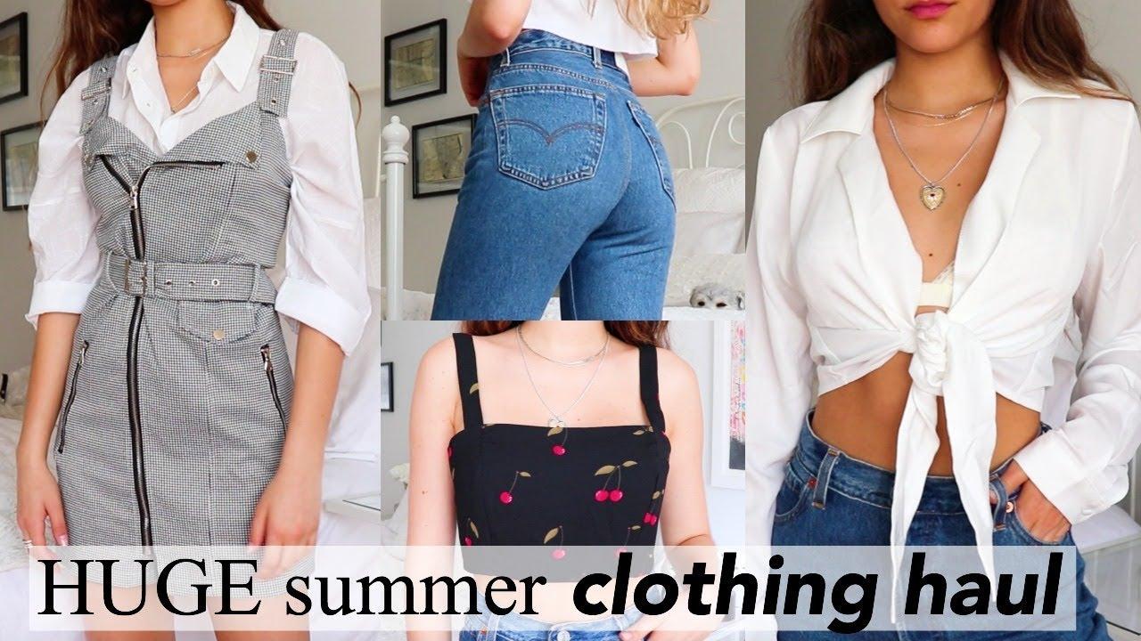 e82bac6cacd5 HUGE Try-On Summer Clothing Haul 2018 - YouTube