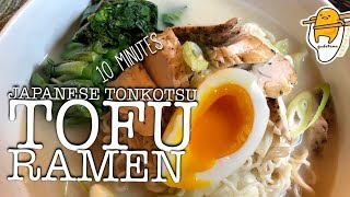 How to make Perfect Instant Japanese Tonkotsu Tofu Ramen Noodle Soup at Home