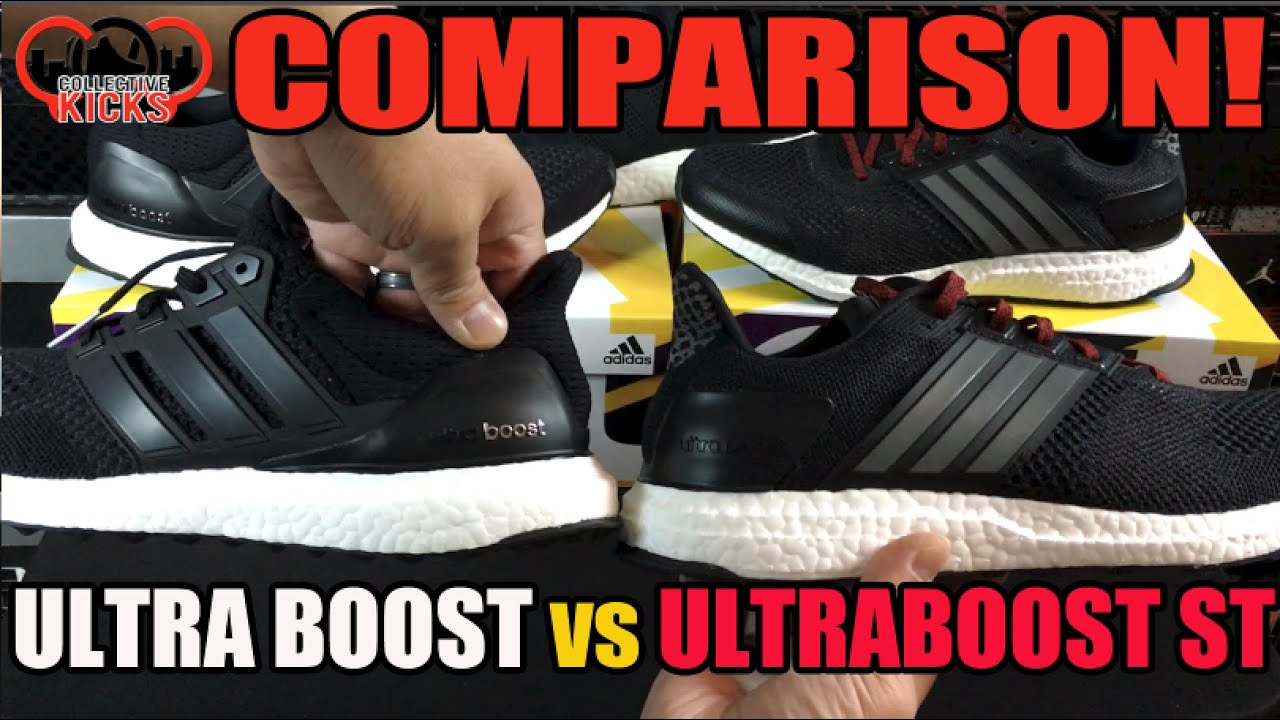 What is the Difference? adidas Ultra Boost ST vs Ultra Boost Comparison  Video - YouTube