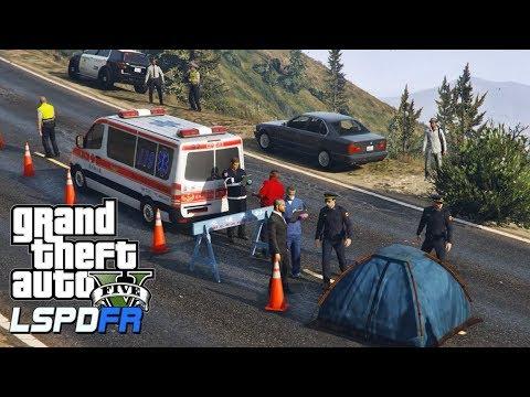 GTA 5 LSPDFR 警察模組 131 A1事故現場 - YouTube