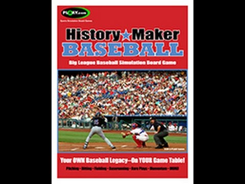 History Maker Baseball Creating Your Own Player Cards