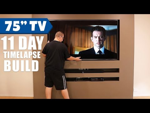 "Timelapse Build - My 75"" TV Niche Wall Home Cinema"