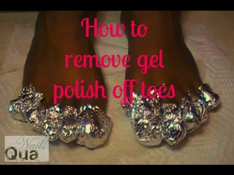 How To Remove Gel Polish From Toes At Home Youtube