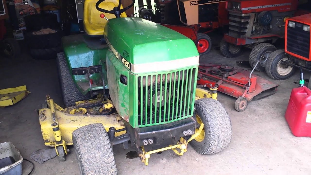 John Deere 420 running with carb issues - YouTube on case vac tractor wiring diagram, john deere 317 wiring diagram, onan engine wiring diagram, john deere 420 garden tractor forum, mtd garden tractor wiring diagram,