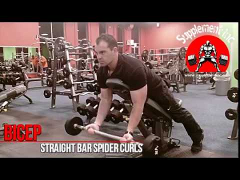 Biceps Straight Bar Spider Curl Exercise Demo And Video Supplement Inc Youtube