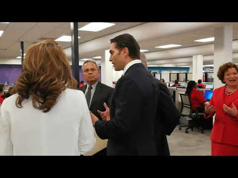 Minister of Finance Colm Imbert Tours Scotiabank's Shared Services Centre