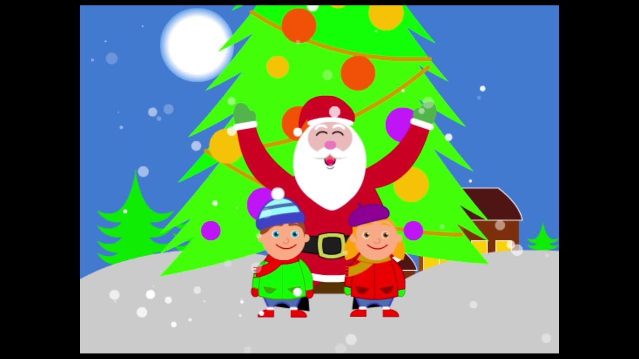 Scarica le nostre immagini di natale e divertiti a colorarle. Merry Christmas Auguri Di Buon Natale Video Per Bambini Youtube