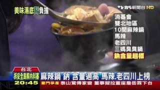 【TVBS】麻辣鍋「鈉」含量過高 馬辣、老四川上榜