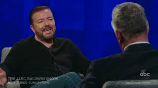 THE ALEC BALDWIN SHOW - Ricky Gervais on telling jokes about famous people at the Golden Globes