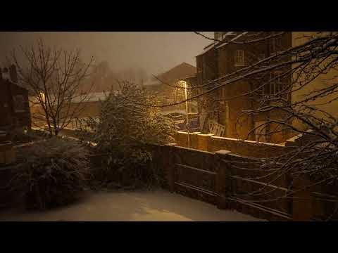 Timelapse snow shower in Wolverhampton UK 8th Dec 2017 4k