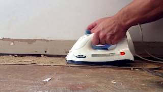 How to remove old vinyl tile. Using 2 irons, best method!!!