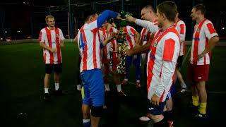 Пьют победное шампанское Русь победитель кубка чемпионов мини-футбола Ростова в 2017 году