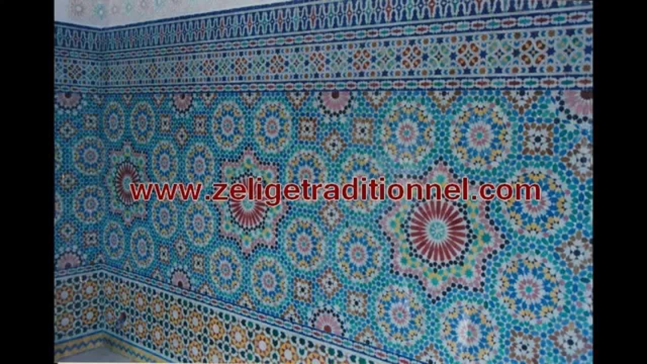 salon marocain moderne avec de zellije mosaique de fes traditionnel 2013