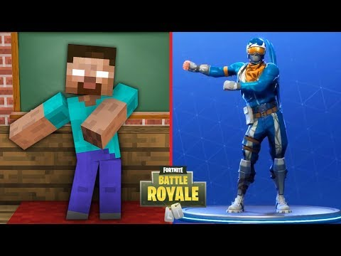 Monster School : FORTNITE BATTLE ROYALE DANCE CHALLENGE - Minecraft Animation thumbnail