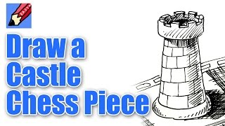 How to draw a Chess Castle or Rook
