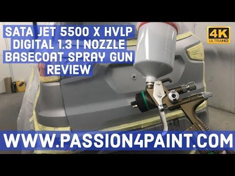 SATA JET 5500 X HVLP DIGITAL 1.3 I Nozzle Basecoat Spray Gun Review