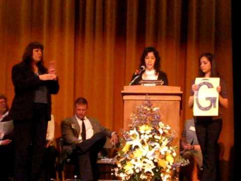 Closing Remarks for SENIOR AWARDS NIGHT 2009 at EAST LEYDEN HIGH SCHOOL, FRANKLIN PARK,  ILLINOIS