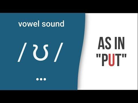 "Vowel Sound / ʊ / As In ""put"" - American English Pronunciation"